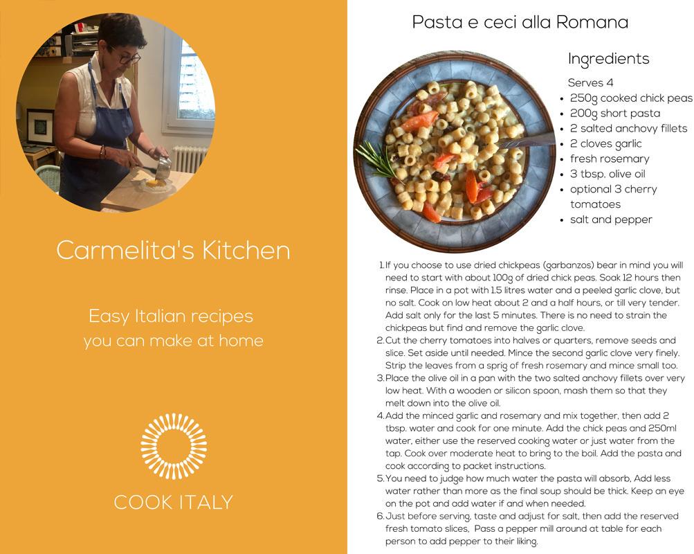 Carmelita's Italian Kitchen, eCookBook, digital recipes, Carmelita's Cooking Club